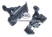HM6-2-2x5mm Roller Feet 5 Threads, width 5mm Overlock Seam